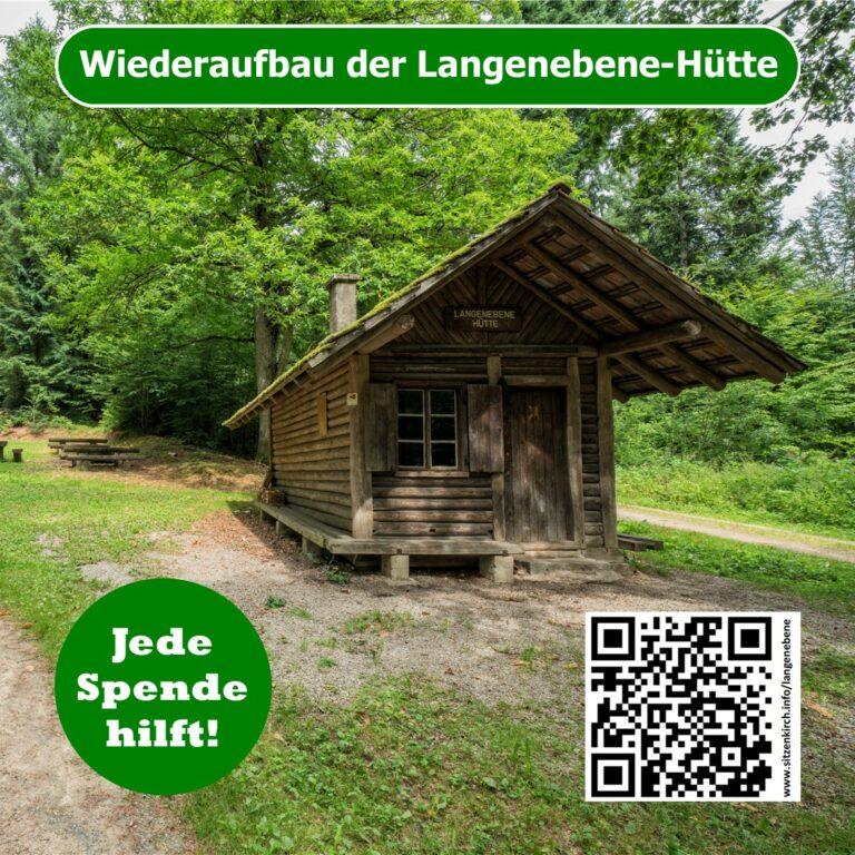Langenebene-Hütte – Spendenaufruf